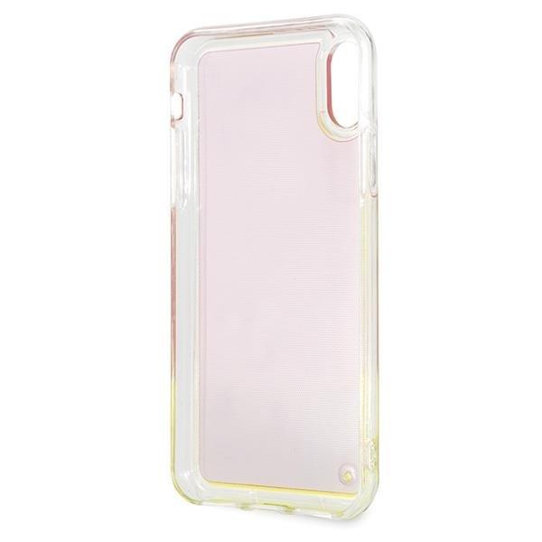 Guess GUHCPXGLCPI iPhone XXs różowy pink hard case California Glow in the dark