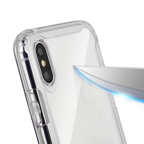 Clear Armor PC Case with TPU Bumper for LG G8 ThinQ transparent