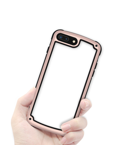 Solid Frame PC Case with TPU Bumper for Samsung Galaxy S9 G960 pink