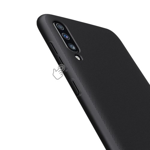 Nillkin Super Frosted Shield robuste Handyhülle + kickstand für Samsung Galaxy A70 schwarz