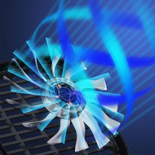 Baseus samochodowy wiatrak wentylator na uchwyt na zagłówek biały (CXZD-02)